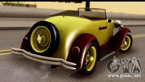 Ford A 1928 para GTA San Andreas left