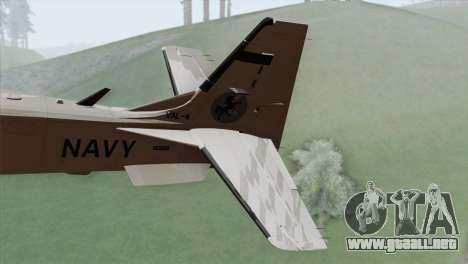 Embraer A-29B Super Tucano Navy White para GTA San Andreas vista posterior izquierda