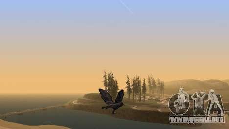 La posibilidad de GTA V para jugar a los pájaros para GTA San Andreas quinta pantalla