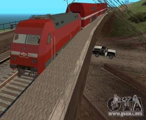Israeli Train para GTA San Andreas vista posterior izquierda