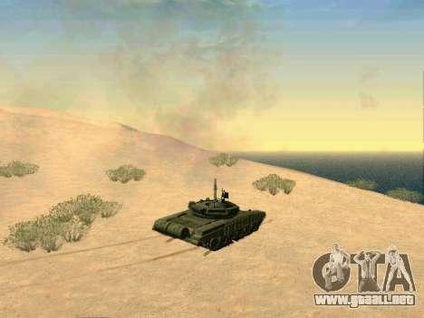 Tanque T-72B para visión interna GTA San Andreas
