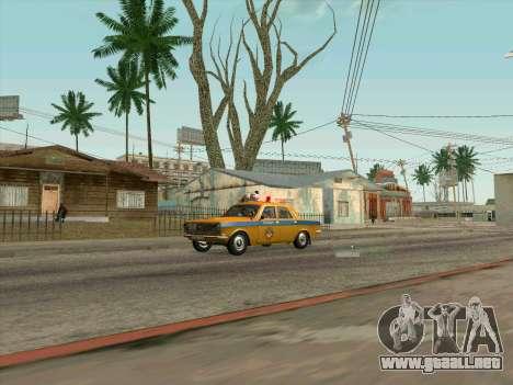 Volga 24-10 GAI para GTA San Andreas vista posterior izquierda