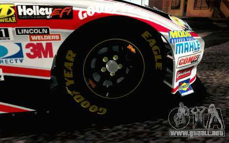 NASCAR Chevrolet Impala 2012 Plate Track para GTA San Andreas vista posterior izquierda