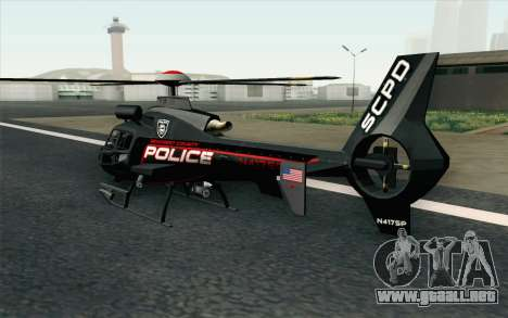 NFS HP 2010 Police Helicopter LVL 3 para GTA San Andreas left