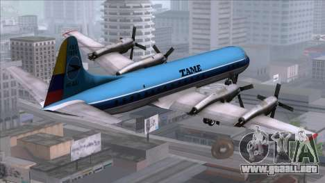 L-188 Electra TAME para GTA San Andreas left