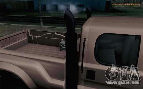 Vapid Guardian GTA 5 para GTA San Andreas vista hacia atrás