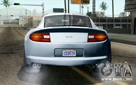 GTA 5 Dewbauchee Exemplar IVF para GTA San Andreas vista hacia atrás