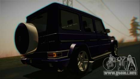 Mercedes-Benz G65 2013 Stock body para visión interna GTA San Andreas