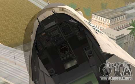 Mitsubishi F-2 Blue JASDF Skin para la visión correcta GTA San Andreas