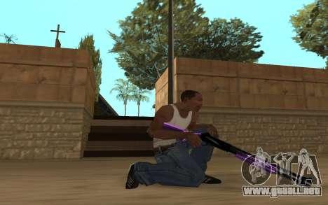 Purple Weapon Pack by Cr1meful para GTA San Andreas quinta pantalla