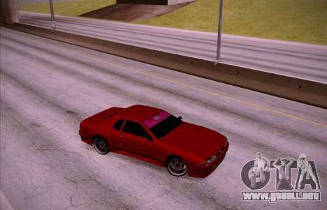 NGT Elegy para GTA San Andreas vista posterior izquierda