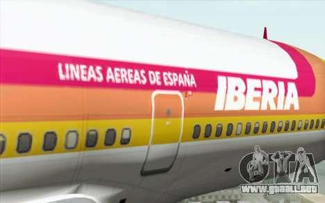 Lookheed L-1011 Iberia para GTA San Andreas vista hacia atrás
