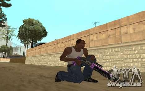 Purple Weapon Pack by Cr1meful para GTA San Andreas sucesivamente de pantalla