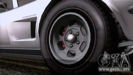 GTA 5 Invetero Coquette Classic TL para GTA San Andreas vista posterior izquierda