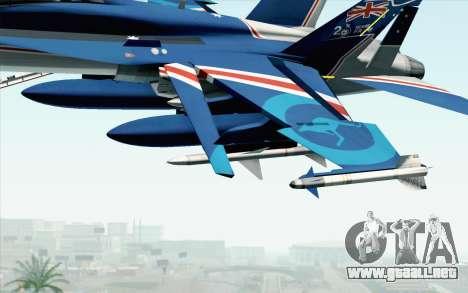 F-18D RAAF 20th Anniversary para la visión correcta GTA San Andreas