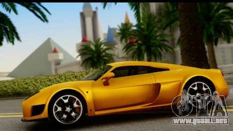 Noble M600 2010 HQLM para GTA San Andreas vista hacia atrás