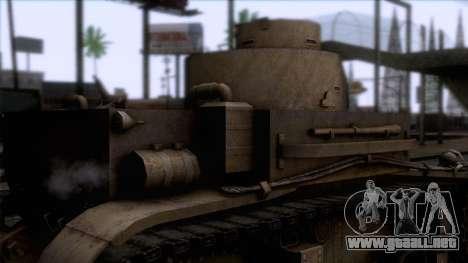 M2 Light Tank para GTA San Andreas vista hacia atrás