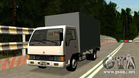 Mitsubishi Fuso Canter 1989 Aluminium Van para GTA San Andreas