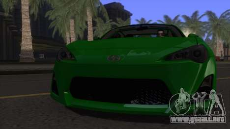 Scion FR-S 2013 Stock v2.0 para visión interna GTA San Andreas
