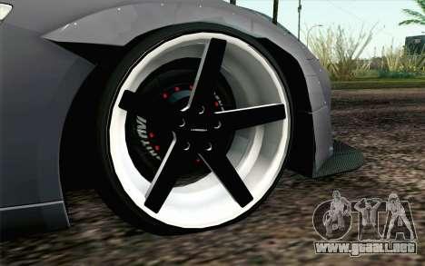 Nissan GT-R 2014 RocketBunny para GTA San Andreas vista posterior izquierda