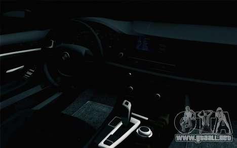 BMW 535i 2011 para la visión correcta GTA San Andreas