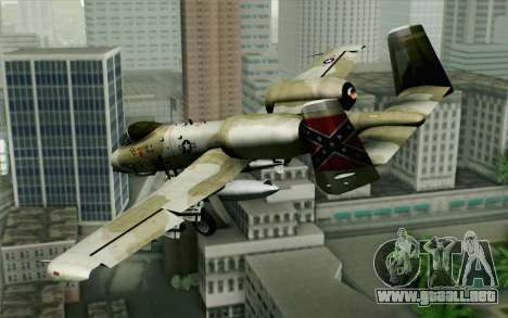 A-10 Desert Camo para GTA San Andreas left