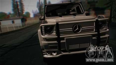 Mercedes-Benz G65 2013 Hamann Body para GTA San Andreas vista posterior izquierda