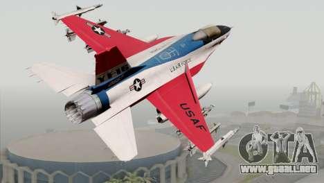 YF-16 Fighting Falcon para GTA San Andreas left