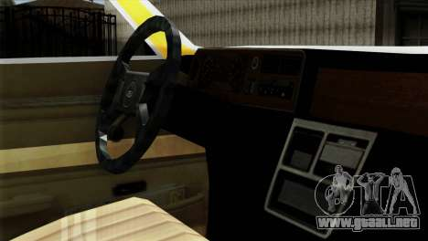 Ford Taunus 1981 Taxi Argentina para la visión correcta GTA San Andreas