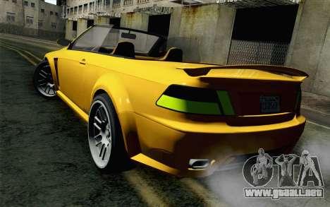 GTA 5 Ubermacht Sentinel Coupe para GTA San Andreas left