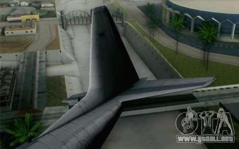 C-130H Hercules USAF para GTA San Andreas vista posterior izquierda