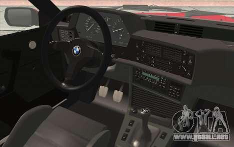 BMW M635CSI E24 1986 V1.0 para GTA San Andreas vista hacia atrás