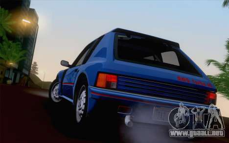 Peugeot 205 Turbo 16 1984 [HQLM] para vista lateral GTA San Andreas
