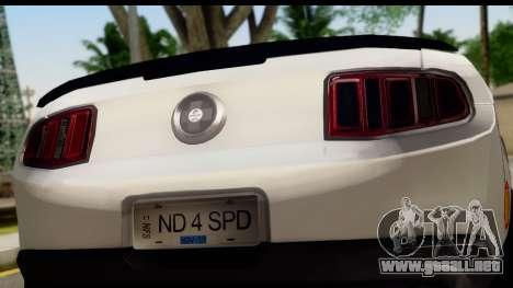 Ford Mustang 2010 Cobra Jet para la visión correcta GTA San Andreas