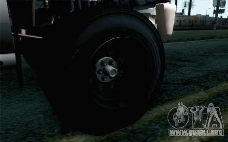 Vapid Guardian GTA 5 para GTA San Andreas vista posterior izquierda