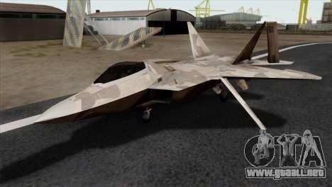 F-22 Raptor 02 para GTA San Andreas
