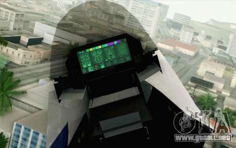 CFA-44 Butterfly Master para GTA San Andreas vista hacia atrás