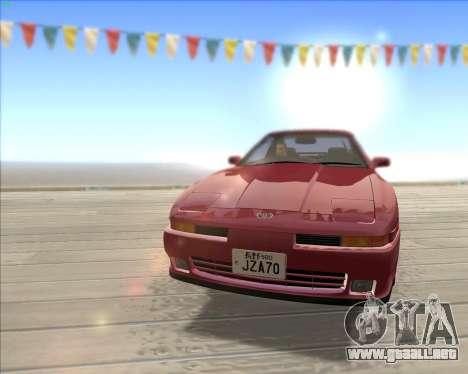 Toyota Supra 2.0GT MK3 para visión interna GTA San Andreas