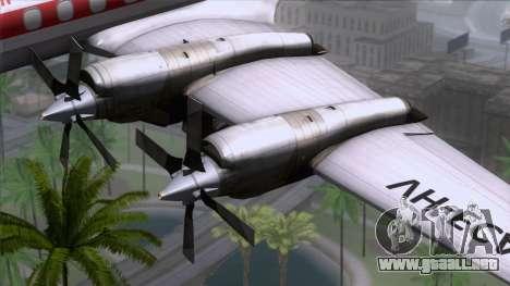 L-188 Electra Qantas para la visión correcta GTA San Andreas