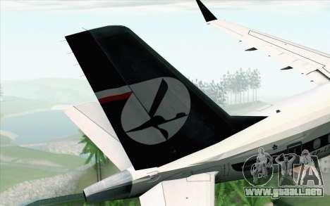 Embraer EMB-175 LOT Polish Airlines 600th E-Jet para GTA San Andreas vista posterior izquierda