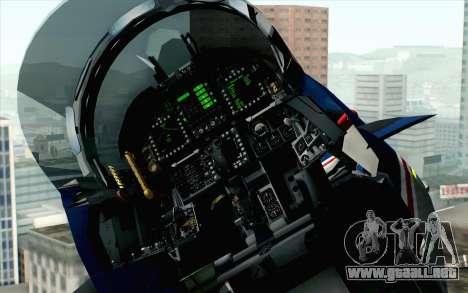 F-18D RAAF 20th Anniversary para GTA San Andreas vista hacia atrás