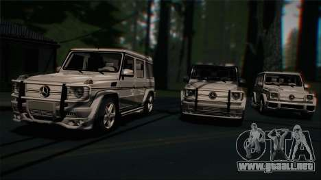 Mercedes-Benz G65 2013 Stock body para vista lateral GTA San Andreas