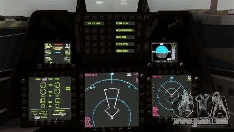 F-22 Raptor 02 para la visión correcta GTA San Andreas