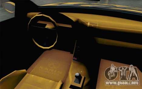 GTA 5 Ubermacht Sentinel Coupe para GTA San Andreas vista hacia atrás