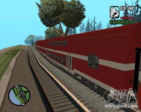 Israeli Train Double Deck Coach para GTA San Andreas left