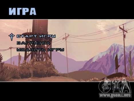 Menú HD para GTA San Andreas tercera pantalla