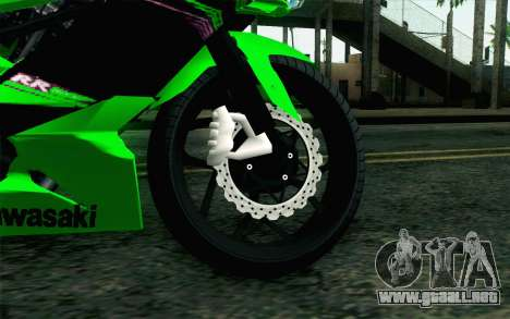 Kawasaki Ninja 250RR Mono Green para GTA San Andreas vista posterior izquierda