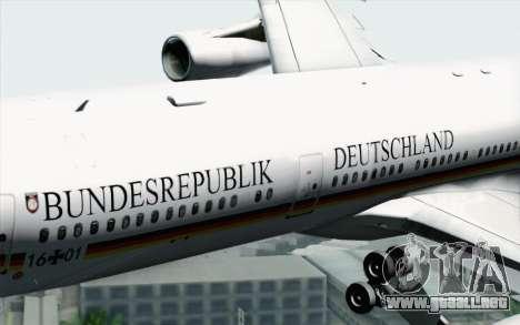 Airbus A340-300 Luftwaffe Konrad Adenauer para la visión correcta GTA San Andreas