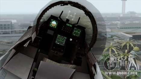 F-16C Block 52 PJ para GTA San Andreas vista hacia atrás