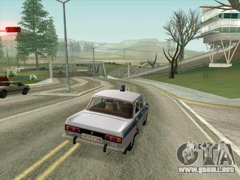 Moskvich 2140 Policía para la vista superior GTA San Andreas